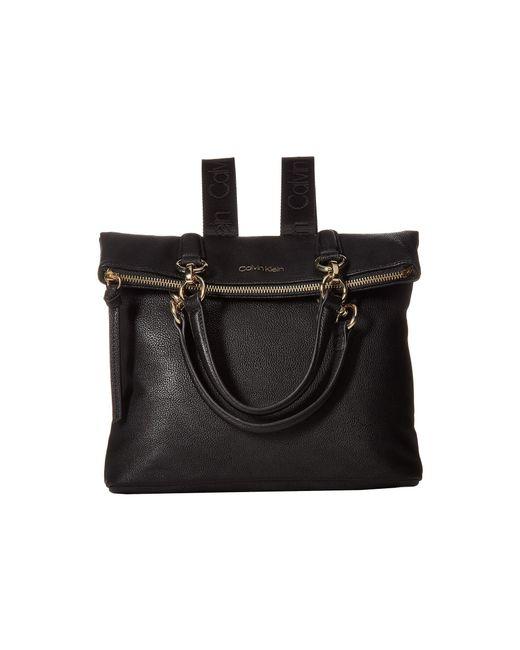 f4b920269c2c Calvin Klein - Black Novelty Flapover Backpack - Lyst ...