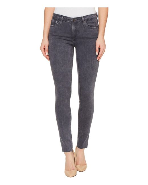 AG Jeans - Gray Middi Ankle In Erosion - Lyst
