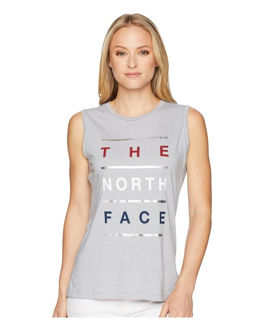 39f15ba43b712 Lyst - The North Face Americana Track Tank Top in Gray - Save 48%