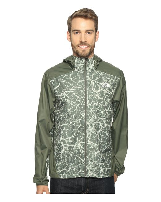 The North Face - Green Flyweight Hoodie for Men - Lyst