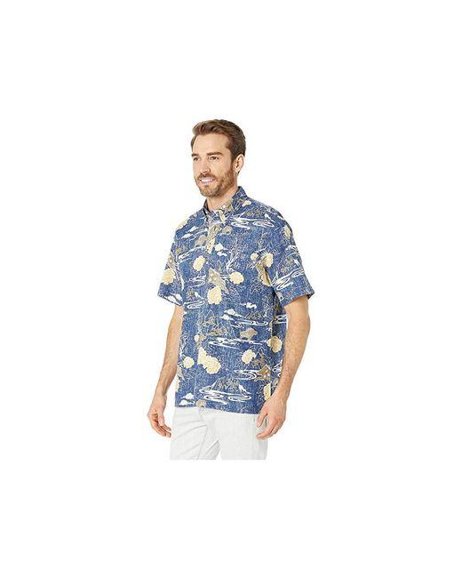 8840e7483 ... Reyn Spooner - Year Of The Boar Classic Fit Pullover Hawaiian Shirt  (medieval Blue) ...