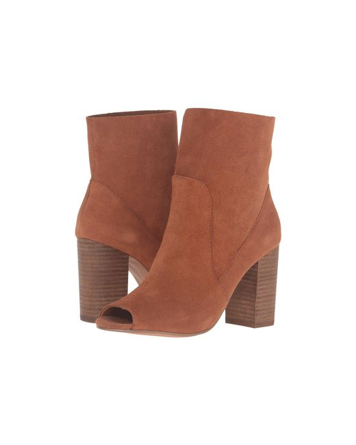 Chinese Laundry - Brown Tom Girl Peep Toe Boot - Lyst