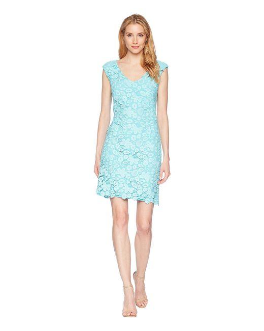 Lauren by Ralph Lauren - Blue Heiress Floral - Montie Dress - Lyst