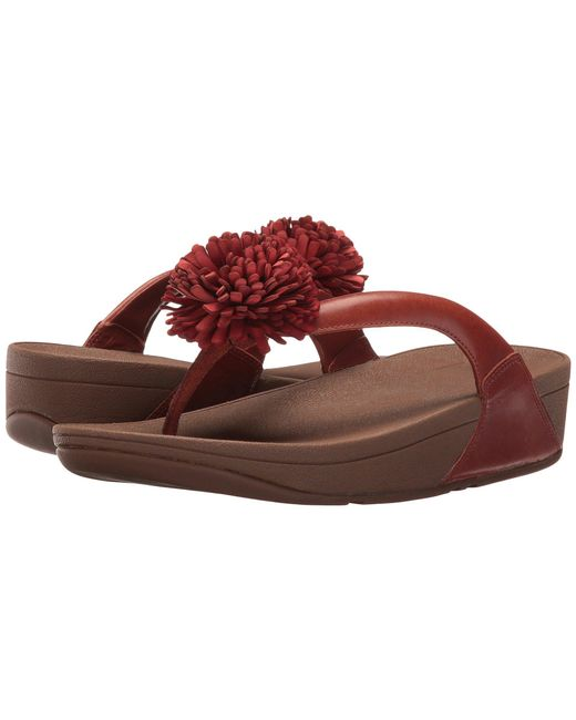 FitFlop Flowerball Leather Toe Post HUI5jM6