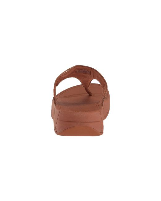 6ff6e6c0dbe22 ... Fitflop - Brown Lulu Aztek Stud Toe-thong Sandals-suede - Lyst ...