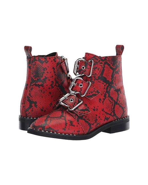 75c191b49 Steve Madden Recharge Moto Bootie (red Snake) Boots in Red - Save 58 ...