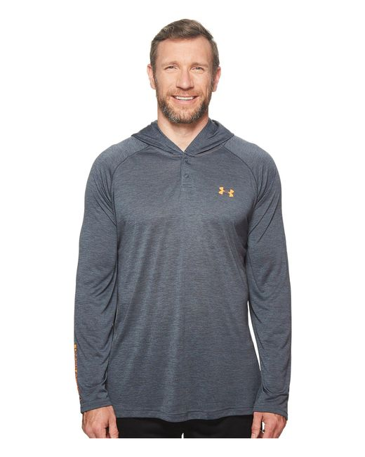 Under Armour - Gray Ua Techtm Popover Henley for Men - Lyst