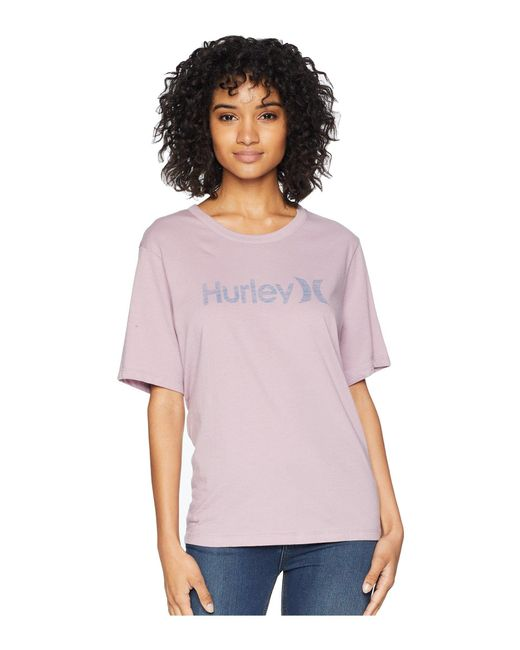 Hurley - Purple One And Only Solid Perfect Short Sleeve Crew - Lyst