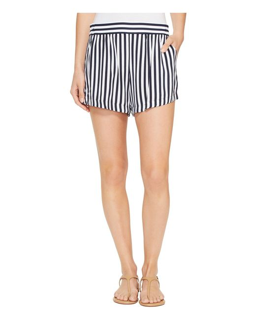 Splendid - Blue Boardwalk Stripe Shorts - Lyst