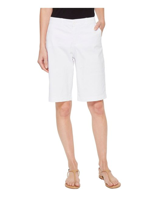 NYDJ - Bermuda Shorts In Optic White - Lyst