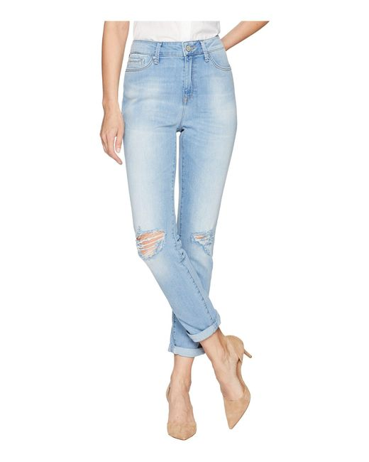 Mavi Jeans - Blue Lea High-rise Boyfriend In Light Ripped Vintage - Lyst
