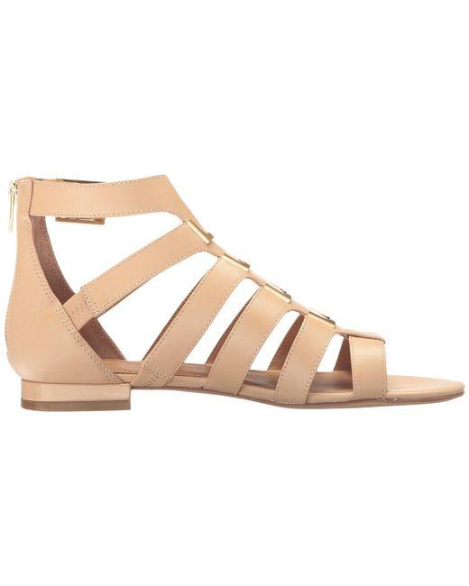 2b3dfac663f6 ... Lyst Calvin Klein - Natural Women s Estes Gladiator Flat Sandals ...