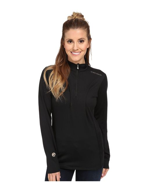 Hot Chillys - Black Micro-elite Chamois 8k Solid Zip-t - Lyst