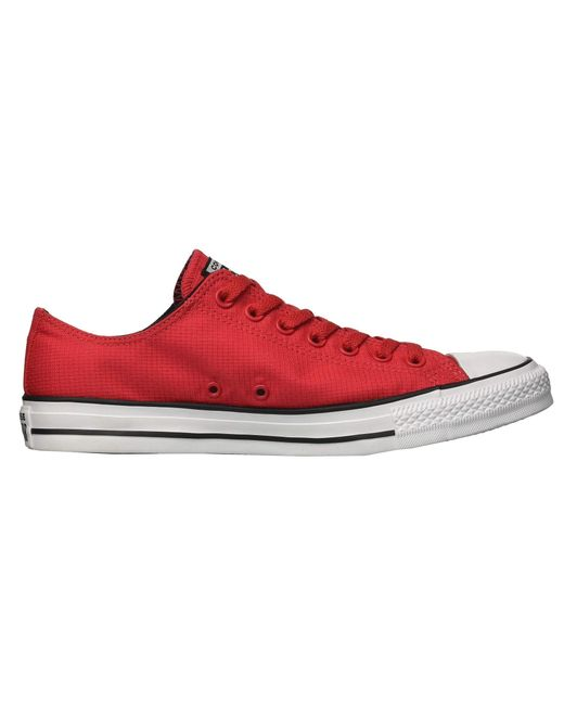 7664ef9e189bc4 ... Converse - Red Chuck Taylor All Star Lightweight Nylon - Ox for Men -  Lyst ...