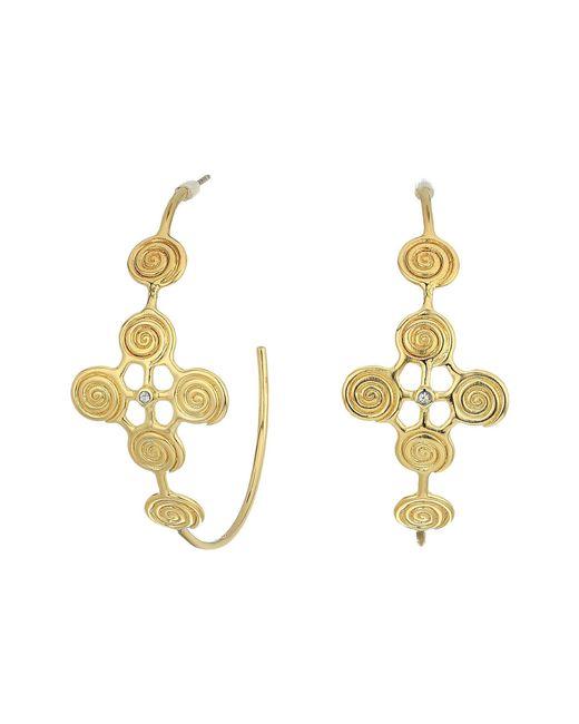 Elizabeth and James - Metallic Maeve Hoop Earrings - Lyst