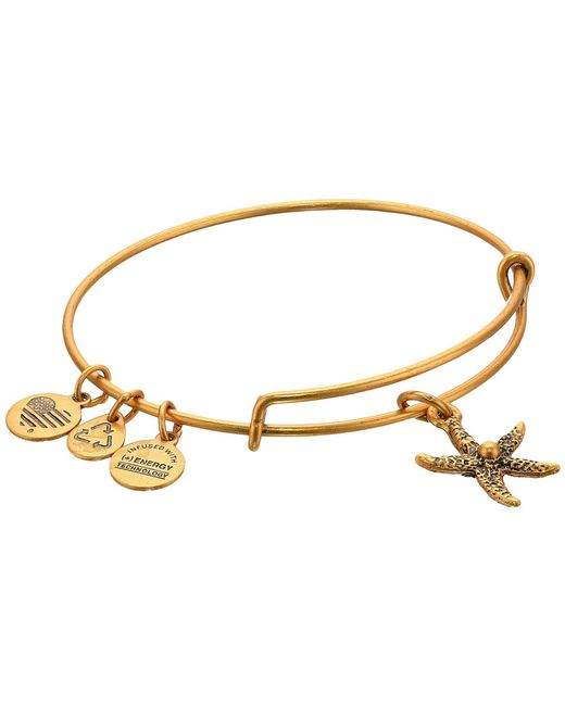ALEX AND ANI - Metallic Starfish Charm Bangle - Lyst
