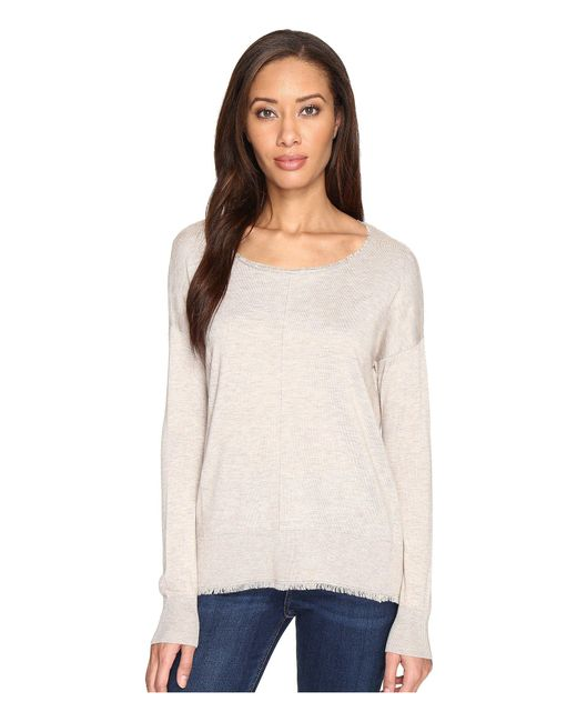 Splendid - Natural Ayers Fray Pullover - Lyst