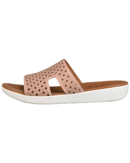 401a016718b5 ... Fitflop - Multicolor H-bar Slide Sandals - Latticed Leather - Lyst ...