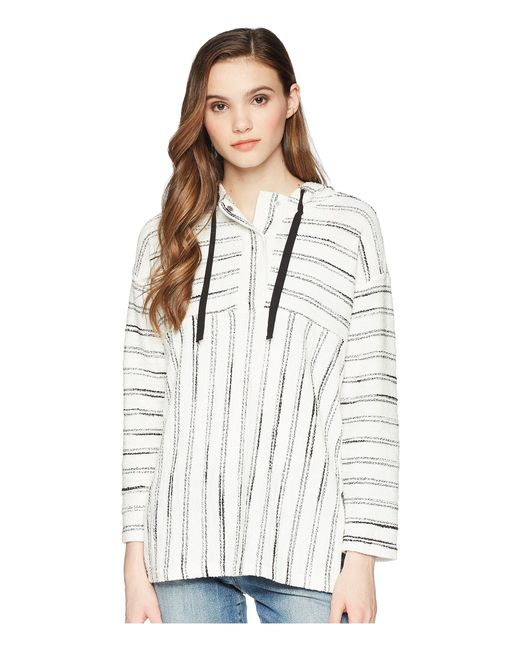 c011b8a92e5 Two By Vince Camuto - Multicolor Long Sleeve Nubby Stripe Hoodie - Lyst ...