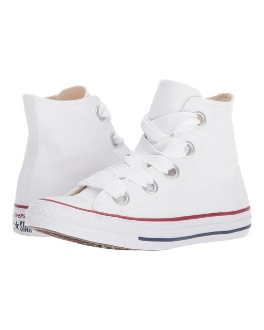 Converse - White Chuck Taylor® All Star Canvas Big Eyelets Hi - Lyst