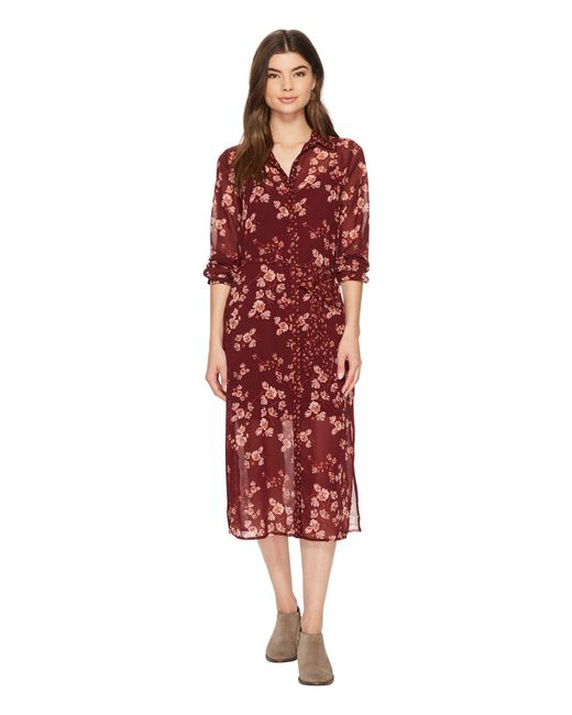 Lucky Brand - Red Mixed Print Emily Dress - Lyst