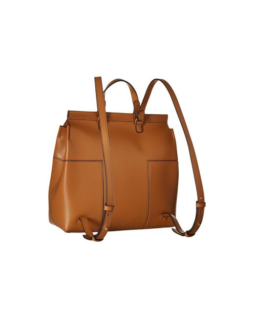 1fe0a79ee55 Lyst - Tory Burch Block-t Backpack in Brown - Save 17%