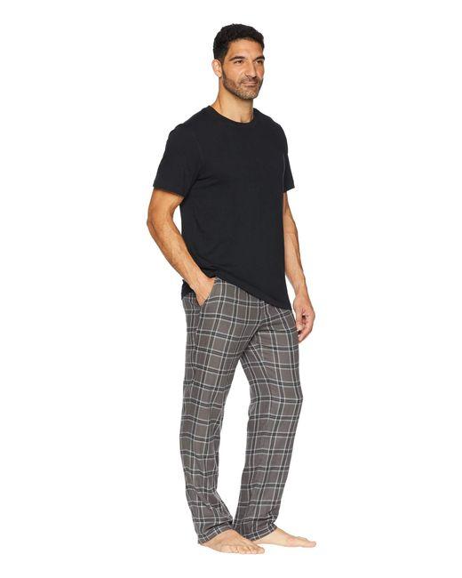 6fba781eef ... Ugg - Black Grant Woven Sleepwear Set for Men - Lyst ...