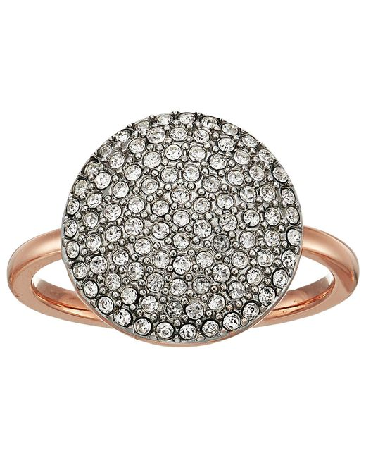 Michael Kors - Multicolor Pave Disk Ring - Lyst