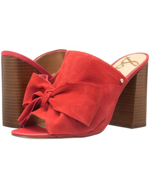 Sam Edelman - Red Yumi Heeled Sandal - Lyst