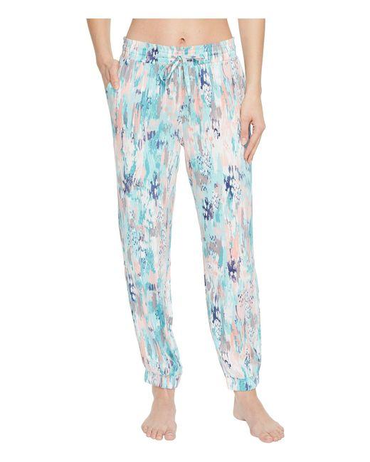 Splendid - Blue Slim Leg Woven Lounge Pants - Lyst