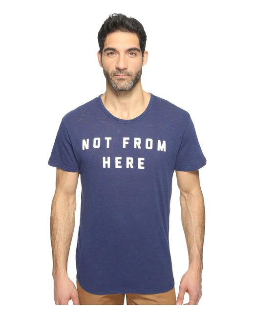 Alternative Apparel - Blue Washed Slub Postgame Crew for Men - Lyst