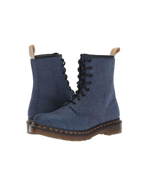 Dr. Martens - Blue Vegan Castel 8-eye Boot - Lyst