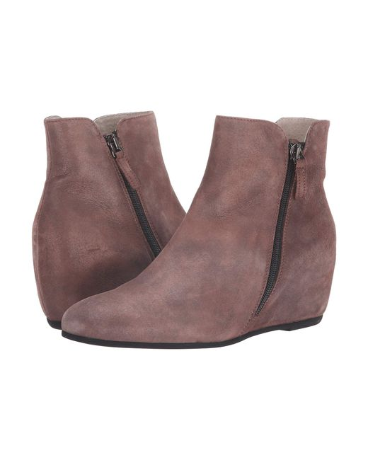 French Sole - Brown Magic Wedge Bootie - Lyst