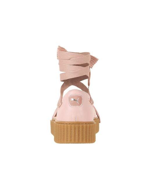 ... PUMA - Pink Creeper Bandana Sandal - Lyst ... d6e885e65