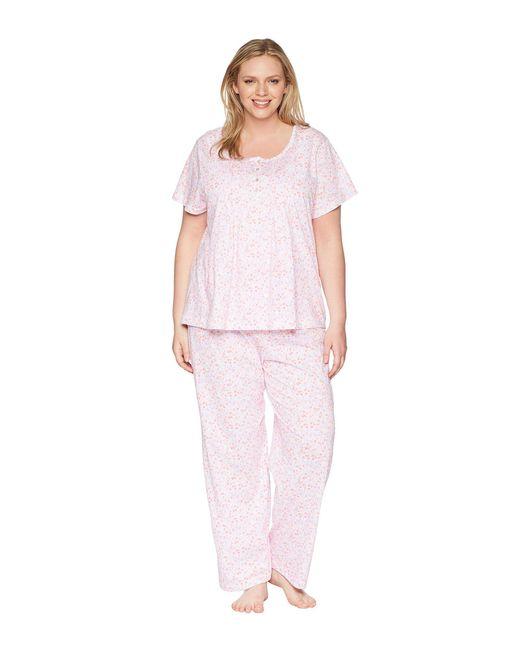 Carole Hochman - Pink Plus Size Pajama Set - Lyst