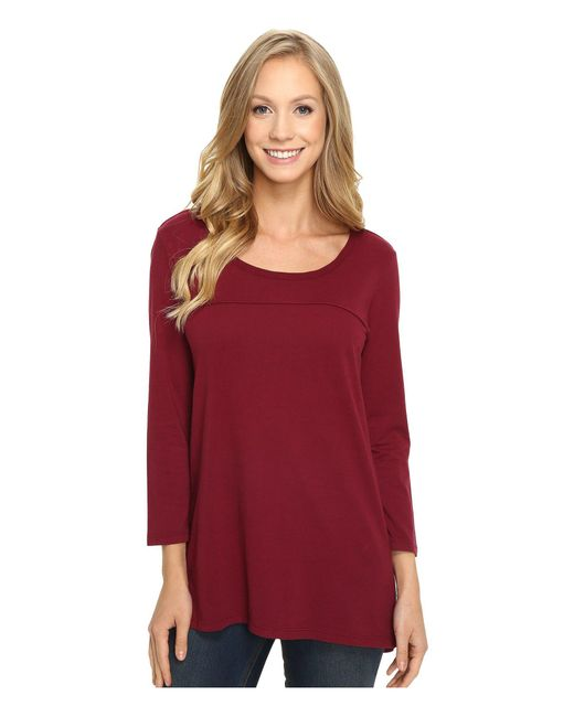 Mod-o-doc - Red Classic Jersey Back Rib Vented Tee - Lyst