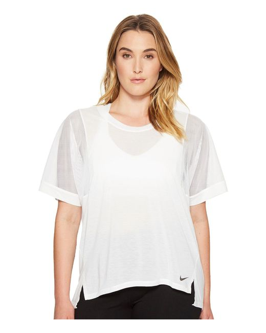 Nike - White Breathe Training Top (size 1x-3x) - Lyst