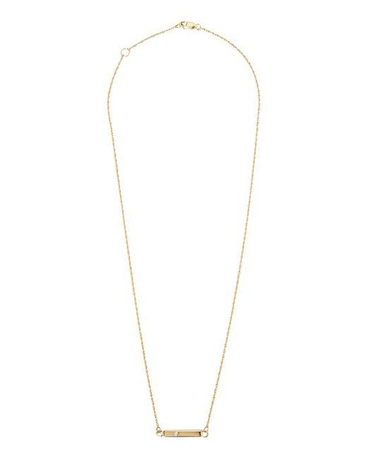 Jennifer Zeuner   Metallic Mini Chelsea Bar Necklace   Lyst