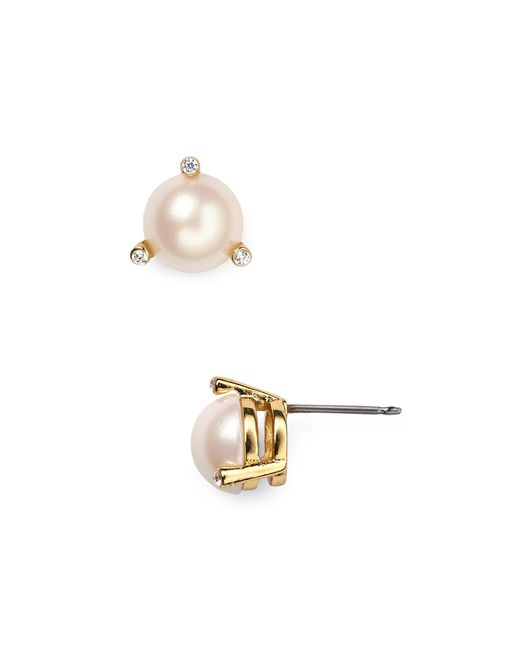 Kate Spade | White Rise And Shine Stud Earrings | Lyst