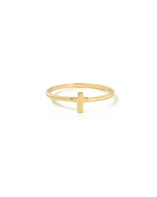 Bing Bang | Yellow Tiny Cross Ring | Lyst