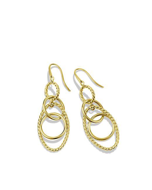 David Yurman | Metallic Mobile Small Link Earrings In 18k Gold | Lyst