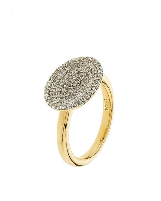 Links of London | Metallic Diamond Essentials Concave Ring | Lyst
