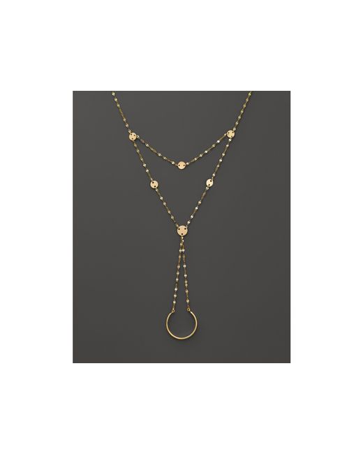 Lana Jewelry | Metallic 14k Yellow Gold Disc Hand Lariat | Lyst
