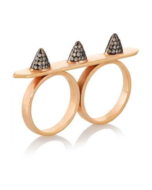 Ileana Makri | Pink Triple Spike 18-karat Rose Gold Diamond Ring | Lyst