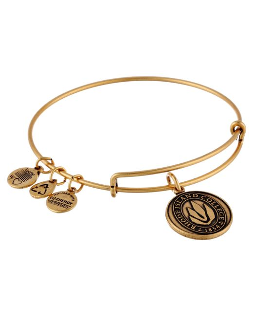 ALEX AND ANI | Metallic Rhode Island College® Logo Charm Bangle | Lyst
