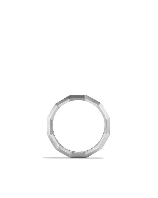David Yurman | Metallic Faceted Metal Band Ring | Lyst