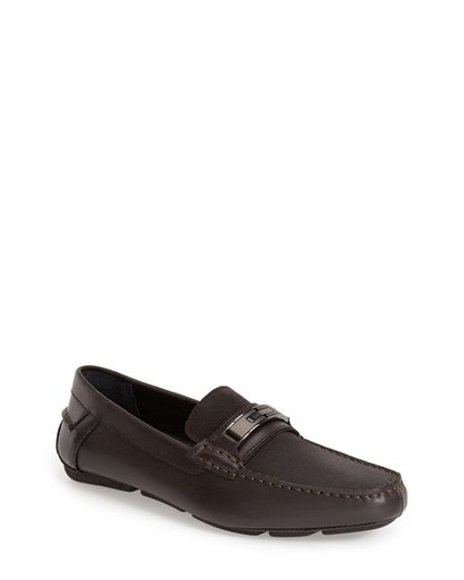 Calvin Klein | Brown 'mchale' Driving Shoe for Men | Lyst