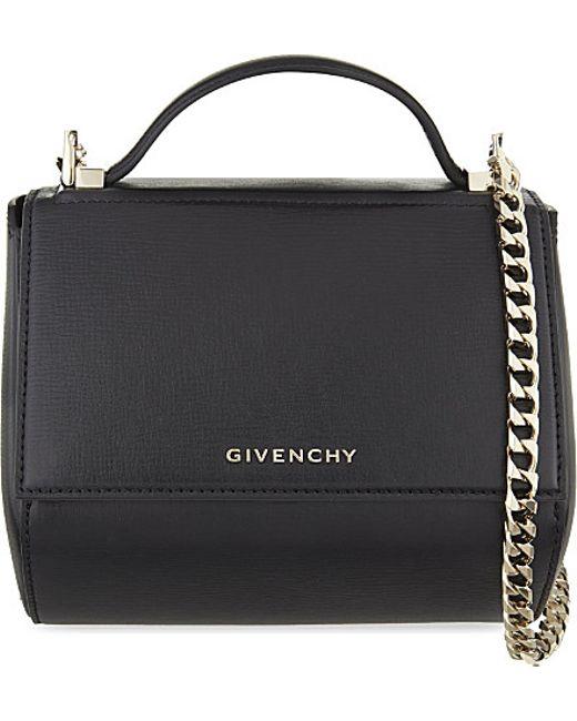 Givenchy | Black Pandora Mini Leather Shoulder Bag | Lyst