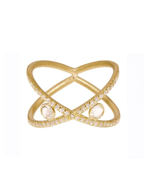 Susan Foster | Metallic Diamond & Yellow-Gold Ring | Lyst