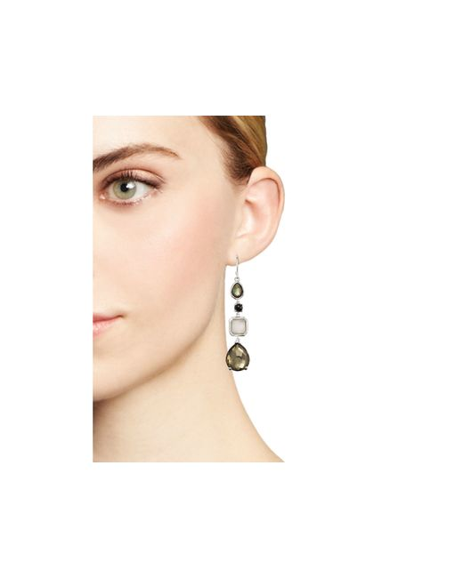 Ippolita | Multicolor Sterling Silver Rock Candy® 4 Stone Linear Earrings In Black Tie | Lyst